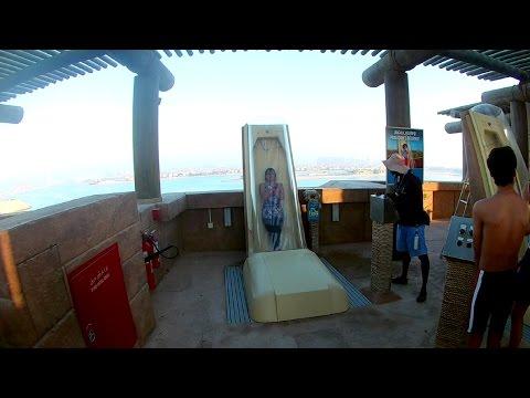 The worst slide in the Atlantis water Park, Dubai