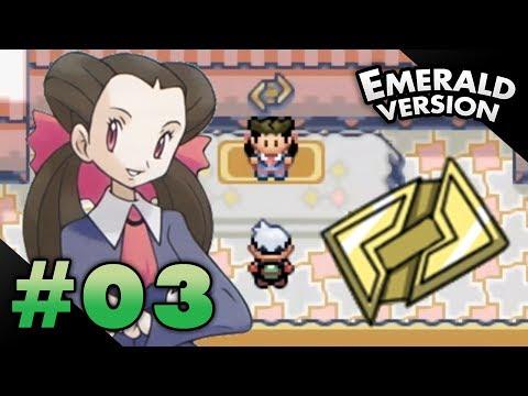 Let's Play Pokemon: Emerald - Part 3 - Rustboro Gym Leader Roxanne
