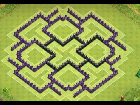 Of clans best town hall 8 dark elixir farming base th8 youtube