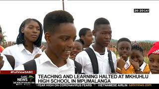Teaching and learning suspended at a Mpumalanga school