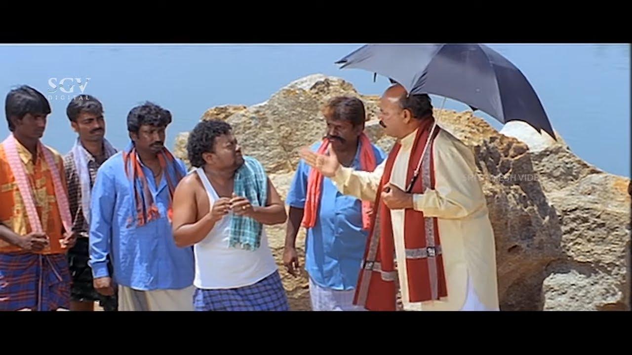 ಹೊಳೆಯಲ್ಲಿ ಹೆಂಗಸರು ಸ್ನಾನ ಮಾಡೋದನ್ನ ನೋಡಿ ಎಡವಟ್ಟ ಮಾಡಿಕೊಂಡ ಸಾಧು   Sadhu Kokila Jalaganda Comedy Scene-3