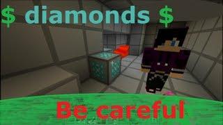 Minecraft machinima : Vær forsiktig når du finner Diamanter