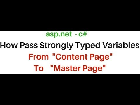c# | how to pass strongly typed data from content to master page