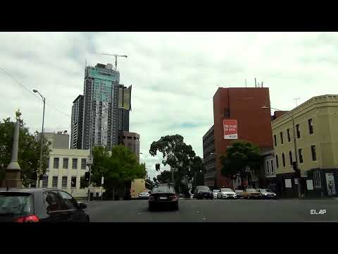 Driving through the city of Melbourne (HD)