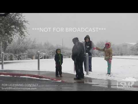 02-22-19 Tucson, AZ - Winter Storm-Desert Snow Has Children Experiencing First Snowfall (Interview) thumbnail