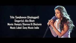 Samjhawan ki - (Alia Bhatt) Lyrical