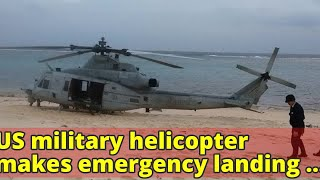 US military helicopter makes emergency landing at Japanese hotel US...