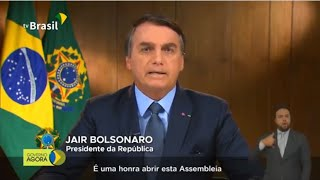 Presidente Jair Bolsonaro: Discurso de abertura da 75º Assembléia Geral da ONU - 22/09/2020