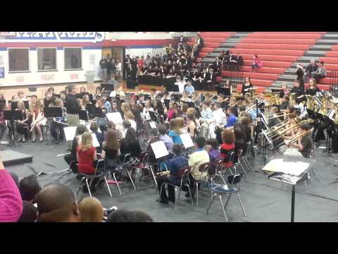 Aubrey Middle School 6th grade band concert - 12/13/12