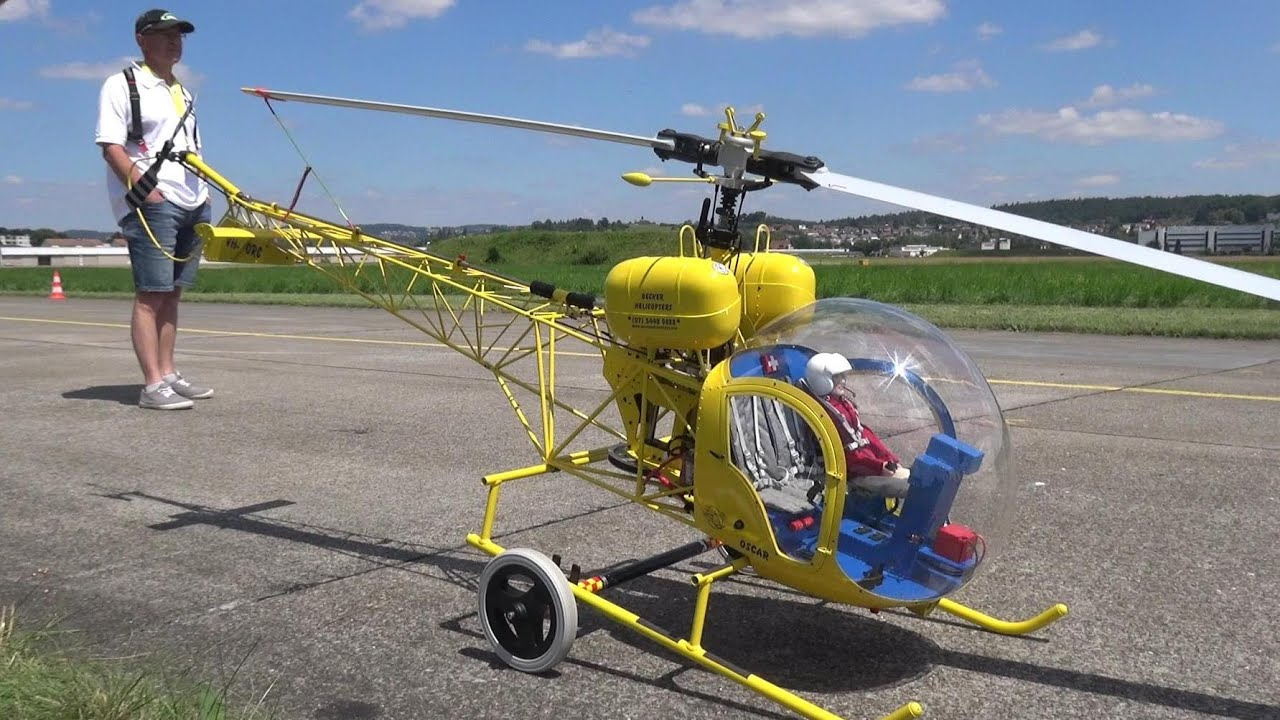 Download OSCAR BELL 47G-2A GIANT RC ELECTRIC MODEL HELICOPTER 2x6S LIPO 5800mah SWISS RC HELI CHALLENGE