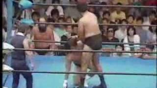 1985.8.23 全日本 長州力対タイガージェットシン②