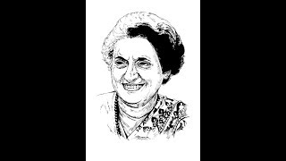 How to Draw Indira Gandhi face drawing step by step