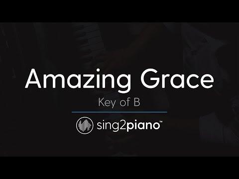 Amazing Grace (Key Of B - Piano Karaoke Instrumental)