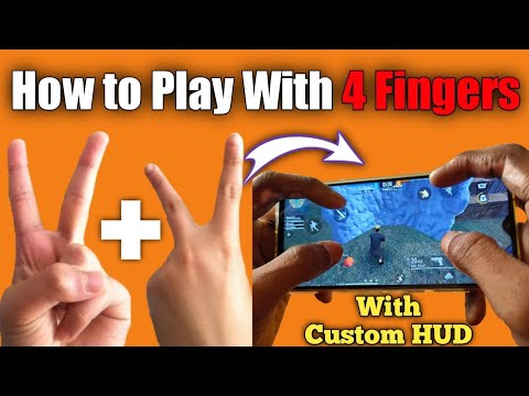 Best 🖖 4 Fingers Claw Setting For Free Fire WITH CUSTOM HUD