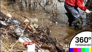 Жители Наро-Фоминска пытаются спасти речку, которая превратилась в фекальное болото