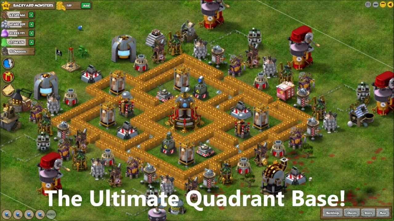 Backyard Monsters Base backyard monsters - how to build the ultimate quadrant base - youtube