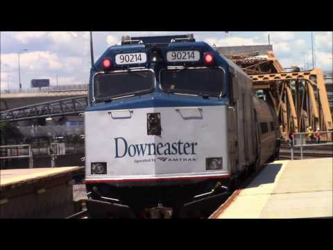 Railfanning Boston North Station 7/26/2017