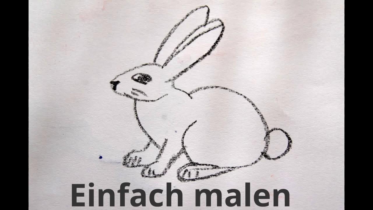 Wie zeichnet man einen hasen malen lernen how to draw for Hase malen