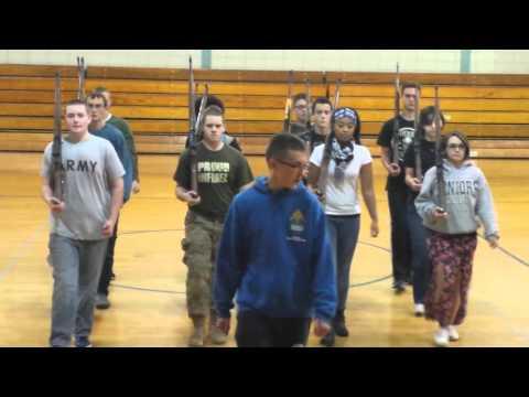 Widefield highschool drill team practice. 11-06-15