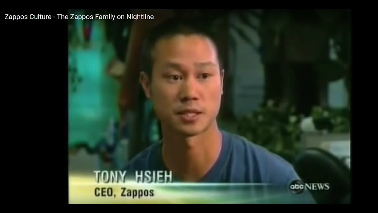 5fb892b14af Zappos Company Culture - The Zappos Family on Nightline - YouTube