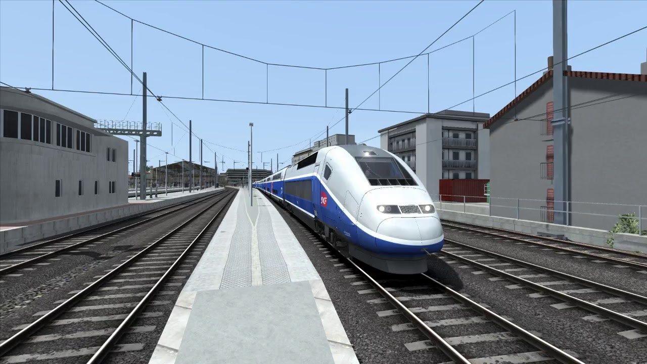 lgv marseille avignon im tgv duplex franz sische hochgeschwindigkeits strecke train simulator. Black Bedroom Furniture Sets. Home Design Ideas