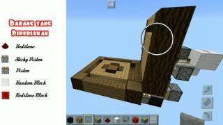 Cara Membuat Hidden Crafting Table/ Chest (Block Swapper)   MCPE
