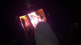 Backpack Hot Tenting. Cold Snap. Small Tent Tiny Stove. Part 1.