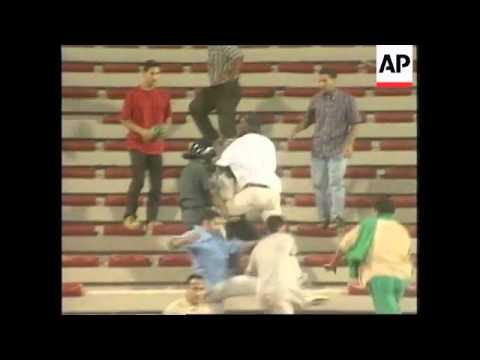 JORDAN: AMMAN: PAN ARAB GAMES - SOCCER RIOT