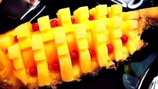 Как красиво нарезать ананас! Decoration of pineapple! Украшения из фруктов! Decoration of fruits!(Как красиво нарезать ананас! How beautifully cut pineapple My page on Facebook Моя страница https://www.facebook.com/carvingfantasis My group on ..., 2015-12-11T12:12:56.000Z)