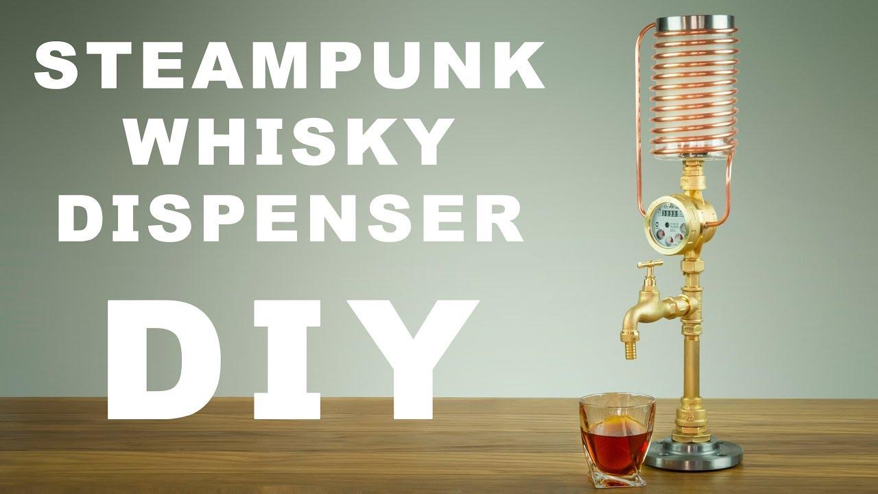 Diy Steampunk Whisky Liquor Dispenser How To Make Youtube