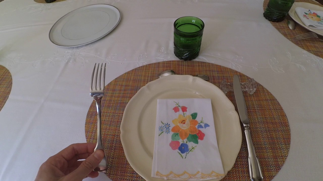 French table manner: table setting - YouTube
