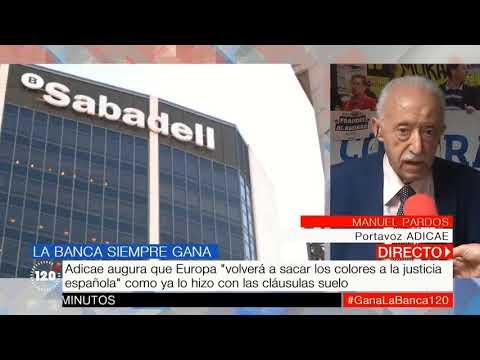 El presidente de ADICAE, Manuel Pardos, en el 120 minutos