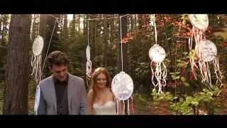 Трогательная лесная свадьба в стиле рустик