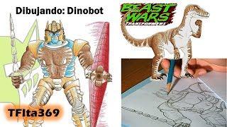 Dibujando   Drawing Transformers: Dinobot (Transformers: Beast Wars) - TFIta369