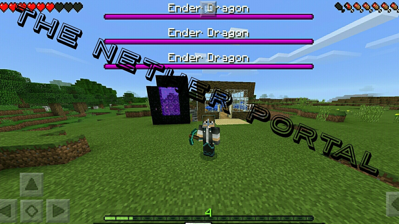 how to make a nether portal in mcpe