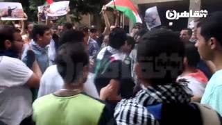 حرق العلم الإسرائيلي أمام السفارة الفلسطينية بالقاهرة