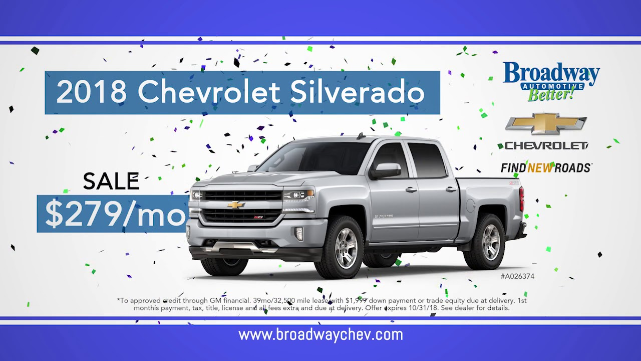 Good Broadway Chevrolet TRUCK MONTH, October 2018 Green Bay, WI