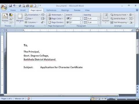 How to write an application letter youtube