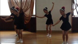 North Korea - Little Girls Dance Practice