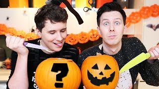 Dan and Phil try PUMPKIN CARVING!