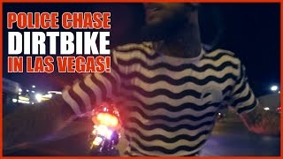 POLICE CHASE Dirt Bike RUNS from POLICE in LAS VEGAS BIKES VS COPS 2016