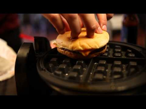How to Transform Leftover Fast Food into Hot, Melty Waffles [VIDEO] | HuffPost Life