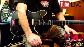 SATSUMA3042 80's Hard Rock Guitar Live!