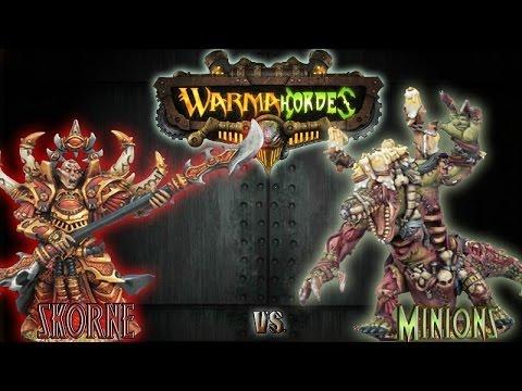 Warmachine & Hordes - Skorne (Hexeris 2) vs. Minions (Maelok) - 75pt Battle Report