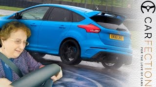 Ford Focus RS: So Easy To Drift Your Mum Can Do It? - Carfection(To see our latest film before it's on YouTube: http://www.carfection.com The new Ford Focus RS is a brilliant car, and we love its drift mode. It makes doing skids ..., 2016-06-27T12:00:02.000Z)