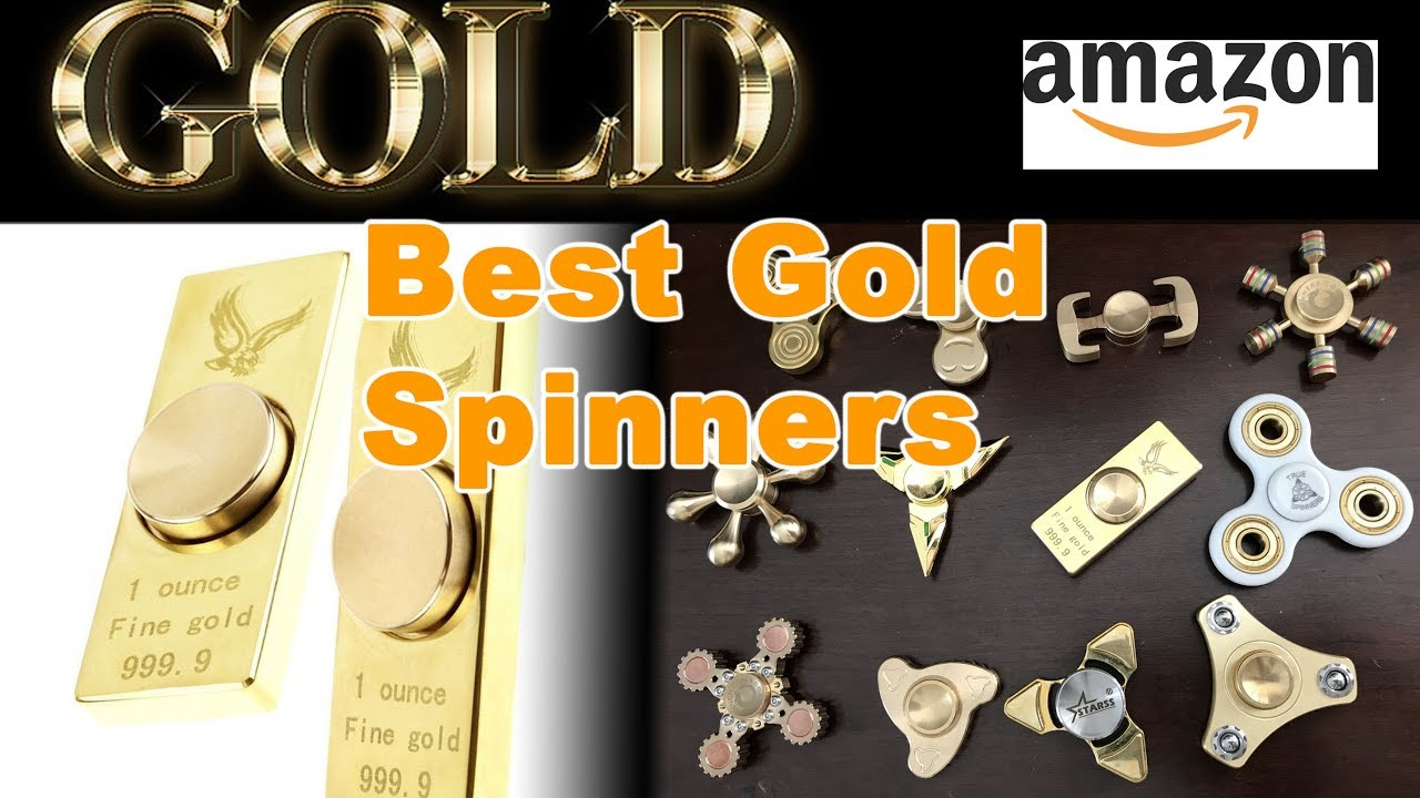 GOLD Best Top 12 Golden Fidget Spinners Review On Amazon New Giveaway 64