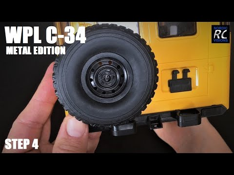 BUiLDiNG The WPL C34 KM (Metal Edition) Step 4: Toyota Land Cruiser FJ40 Hard Body