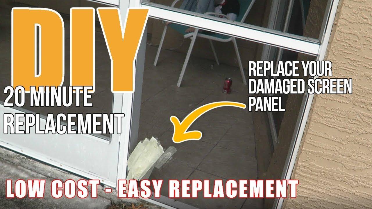 replace your damaged pool screen diy screen panel replacement and repair