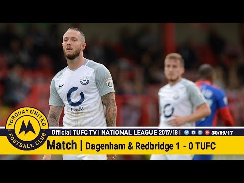 Official TUFC TV | Dagenham 1 - 0 Torquay United 30/09/17