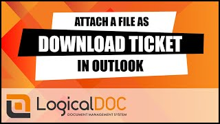 Attach a file as download ticket in Outlook
